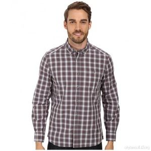 Kenneth Cole Button-Down Collar One-Pocket Shirt